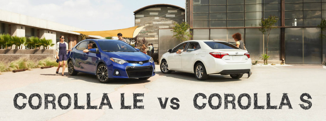 differences between 2016 toyota corolla le and s. Black Bedroom Furniture Sets. Home Design Ideas