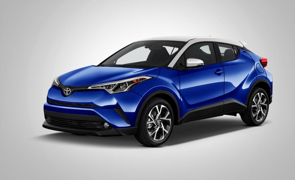 2017 toyota chr hybrid suv angular front blue eclipse metallic iceberg roof o bill alexander. Black Bedroom Furniture Sets. Home Design Ideas
