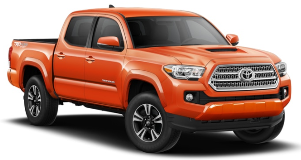 2017 Toyota Tacoma available exterior paint color options