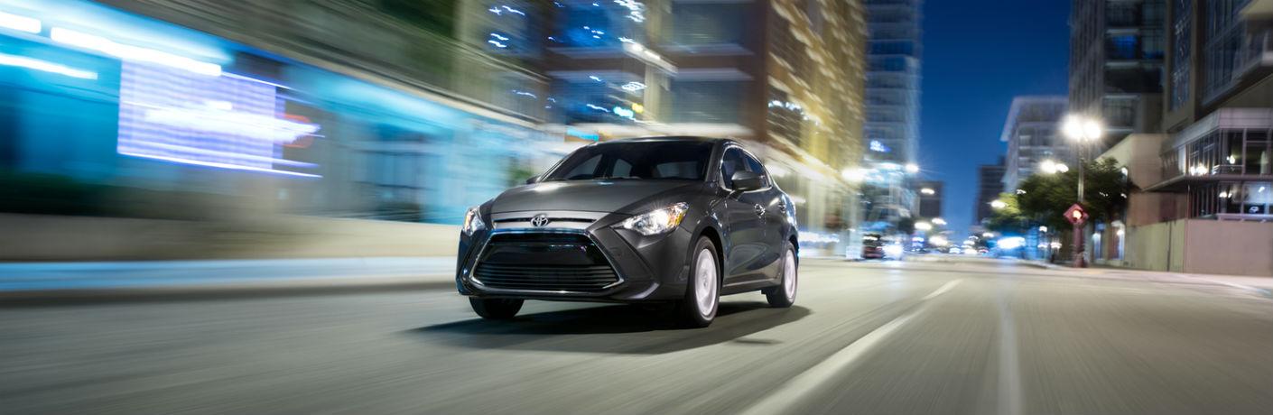 2018 Toyota Yaris iA driving at night