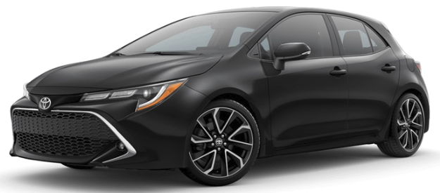 2019 Toyota Corolla in Midnight Black Metallic