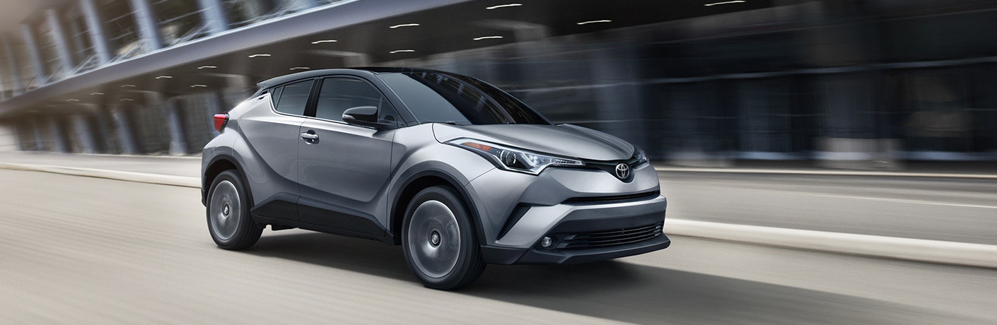 2019 toyota chr driving on road