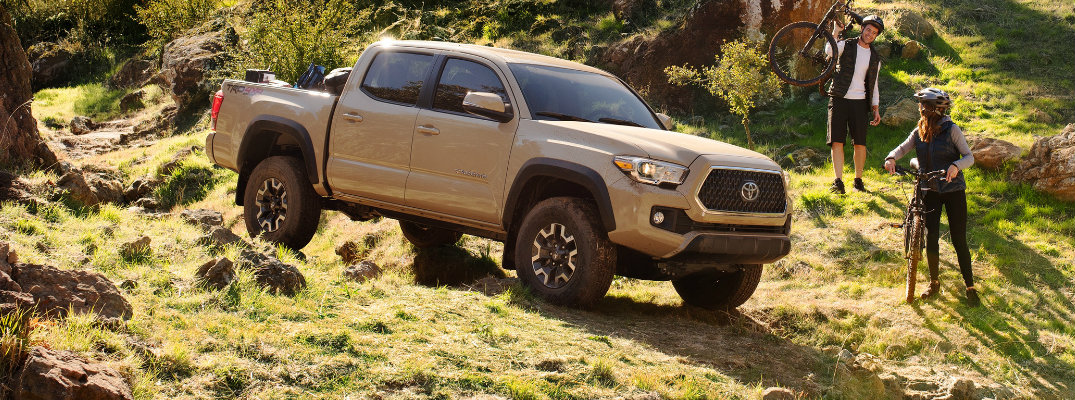 2019 Toyota Tacoma on rough terrain