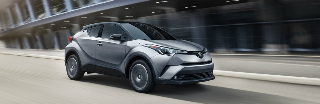 2019 Toyota C-HR in motion on the highway