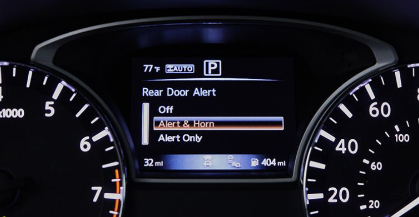 Nissan Rear Door Alert System