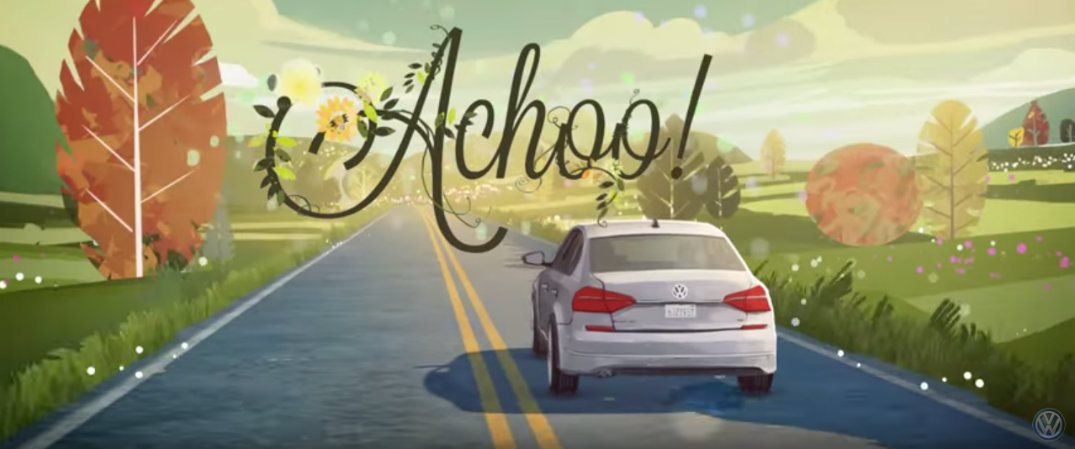 "2016 VW Passat Lane Assist ""Achoo"""