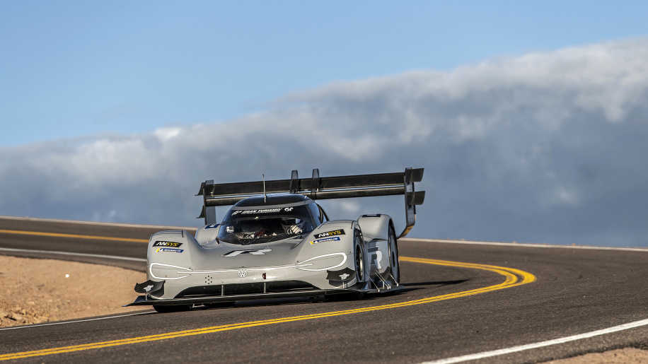 An Electric Volkswagen Car Takes On Pikes Peak