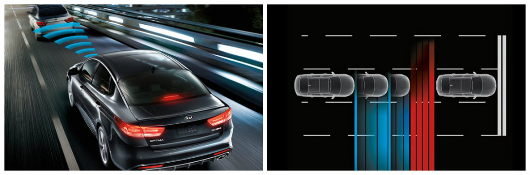 2017 Kia Optima safety and driver-assist features Autonomous Emergency Braking Lane Departure Warning