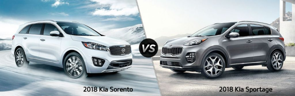 2018 kia sorento vs 2018 kia sportage comparison features and specs. Black Bedroom Furniture Sets. Home Design Ideas