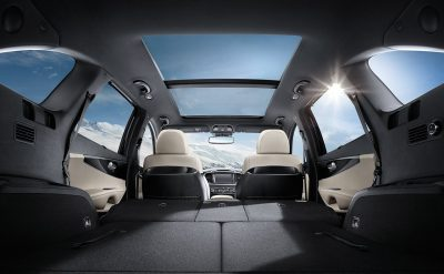 2018 Kia Sorento Interior With The Second And Third Row Folded Down For  Full Cargo Space