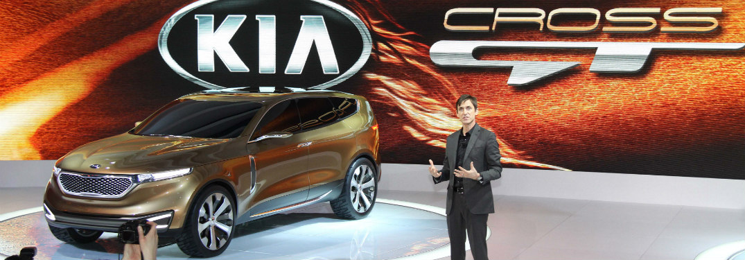 kia cross gt being presented at 2013 chicago auto show