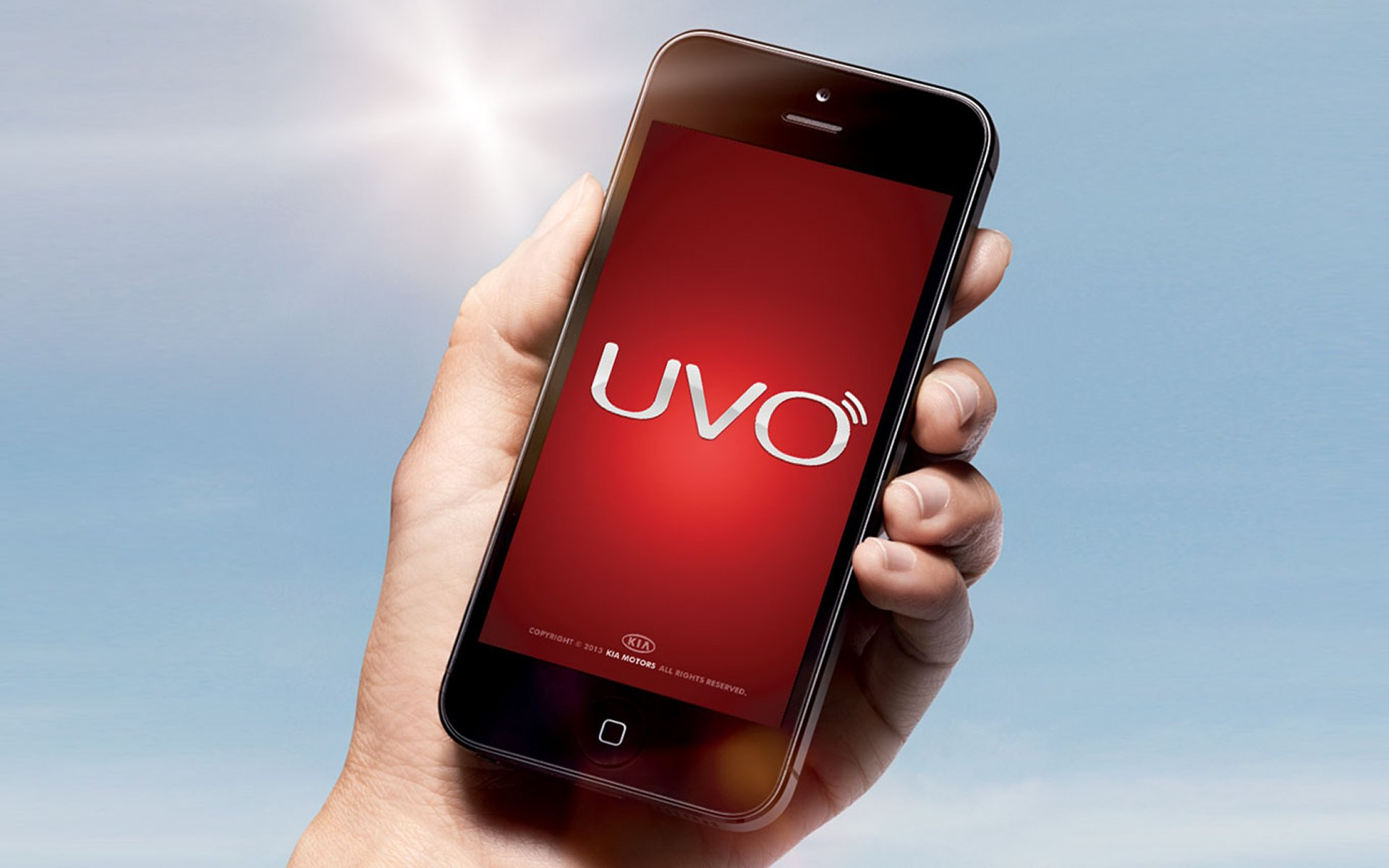Smartphone with UVO on screen