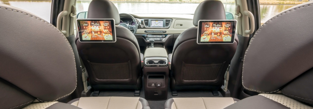 Second row view from the 2019 Kia Sedona