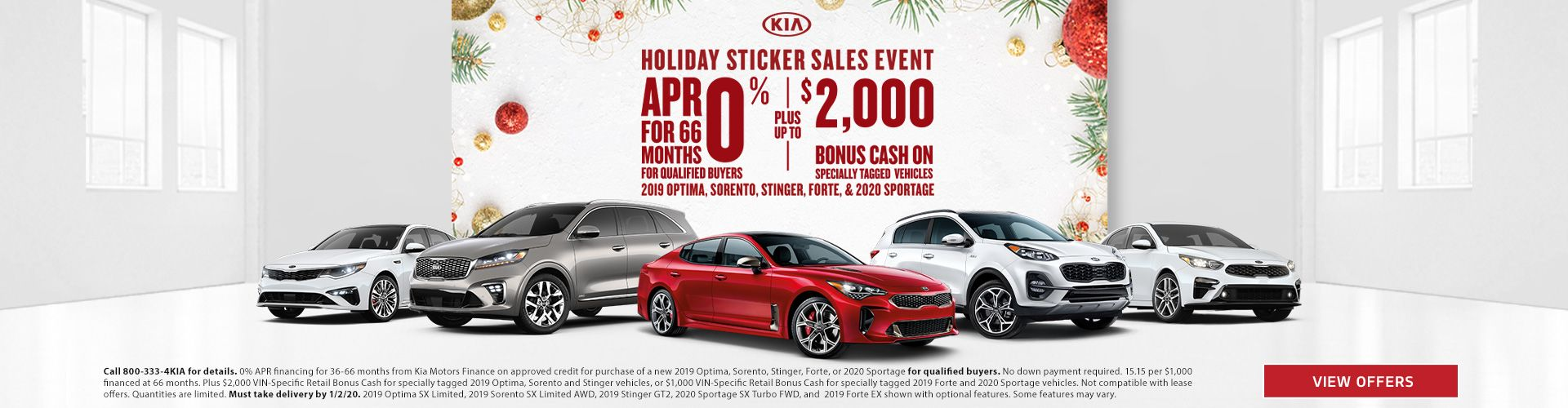 Airport Kia Holiday Sticker Sales Event Ad