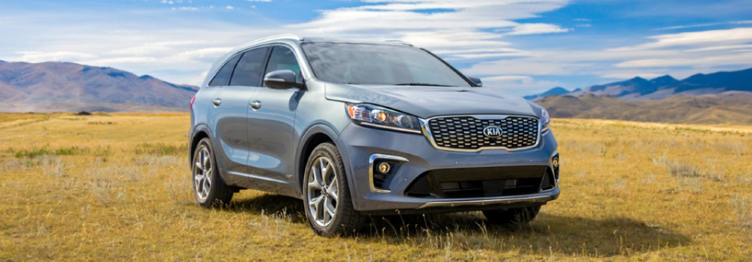 2020 Kia Sorento front passenger side parked in a field