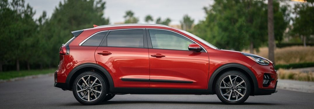 2021 Kia Niro Touring parked in middle of road from exterior passenger side
