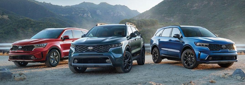 What is the Fuel Economy Rating of the 2021 Kia Sorento range?