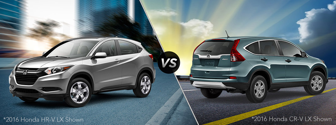 What are the differences between the Honda CRV and HRV