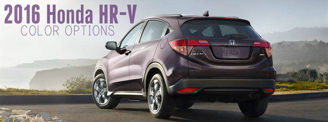 2016 honda hr v color options for Honda financial services mailing address