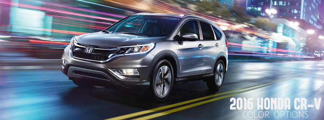 Honda Financial Services Payment >> 2016 Honda CR-V color options