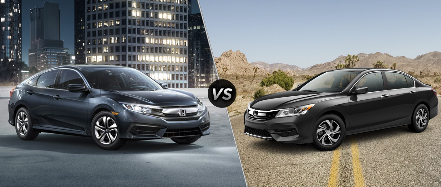 Honda Civic 2016 Vs 2017 >> 2016 Honda Civic Vs 2016 Honda Accord