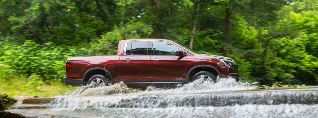 2017 Ridgeline driving through a stream
