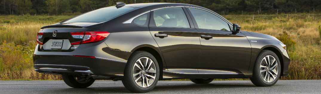 2018 Honda Accord Hybrid Black Exterior Back View