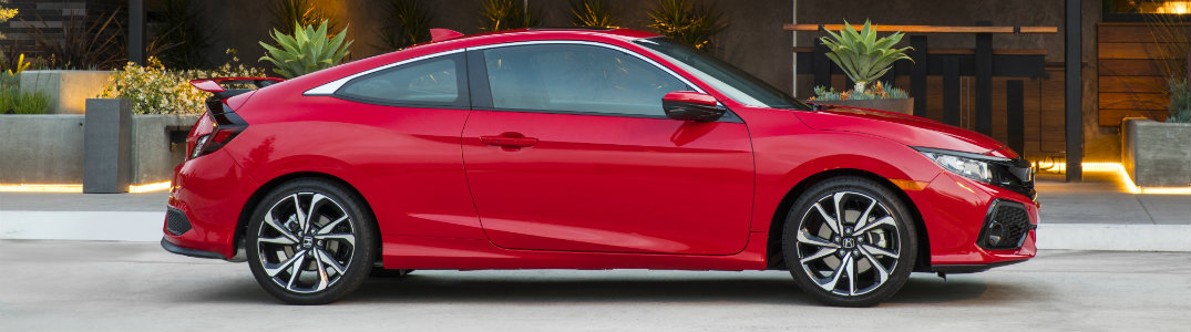 2018 Honda Civic Si Red Side Exterior View