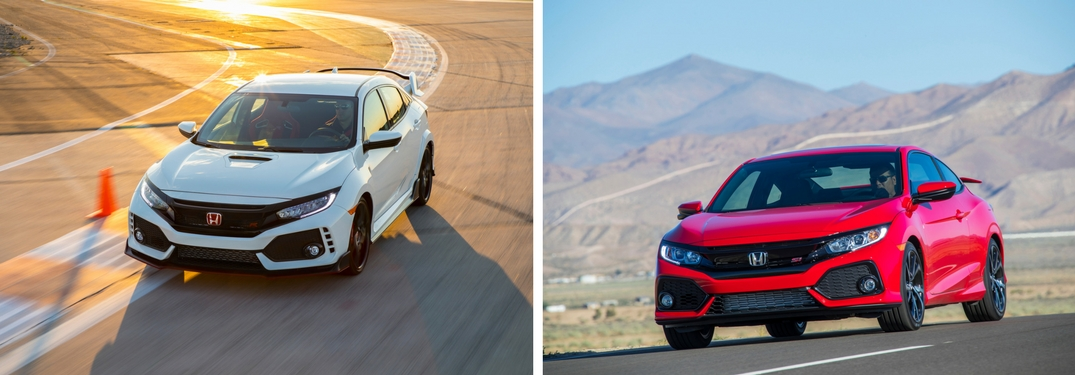 How is the 2018 Honda Civic Type R different from the Civic Si?