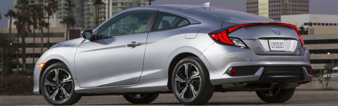 2018 Honda Civic Coupe Silver Back Exterior View