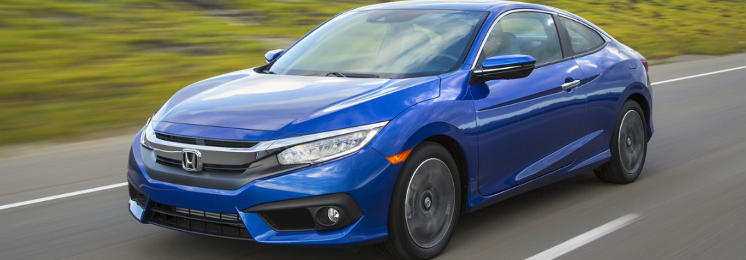 2018 Honda Civic Coupe blue front exterior view