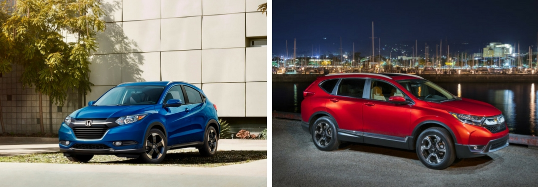 2018 Honda HR-V and CR-V front exterior view of both vehicles
