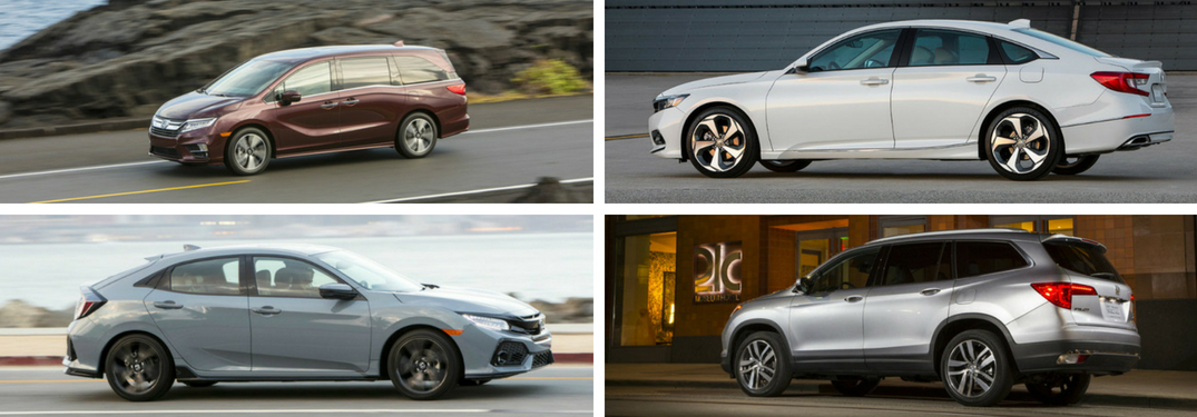 Collage of 2018 Honda car models