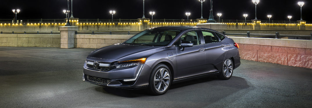 2018 Honda Clarity Plug-In Hybrid parked in parking lot