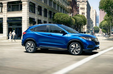 Elegant 2019 Honda HR V Side Exterior Blue