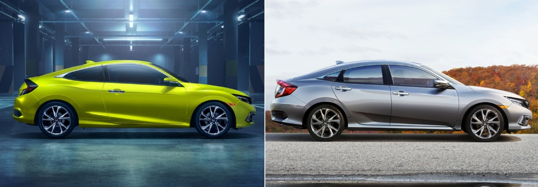 Honda Civic Sedan and Civic Coupe Receive Updated Design and Sport Trim