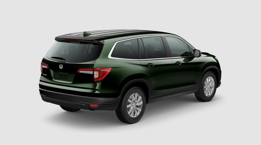 Black Forest 2019 Honda Pilot Rear Exterior on a White Background