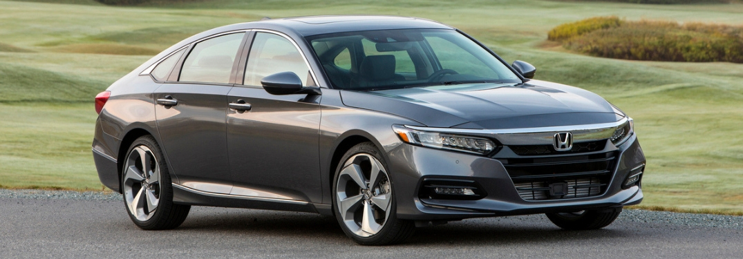 Gray 2019 Honda Accord Front Exterior on a Country Road