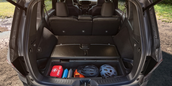 2019 Honda Passport Rear Cargo Space with Cargo in Underfloor Storage Compartment
