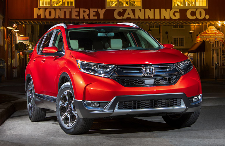 Red 2019 Honda CR-V on a City Street