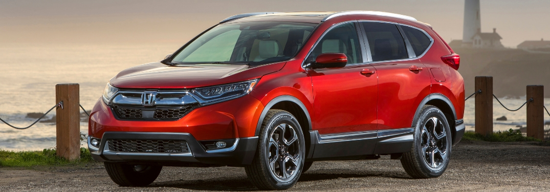 Red 2019 Honda CR-V Next to Water