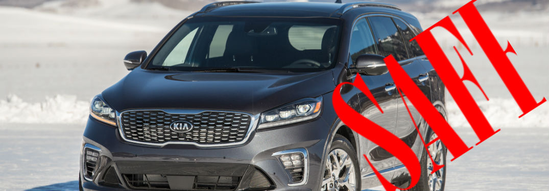 2019 Kia Sorento with safety badge overlaid