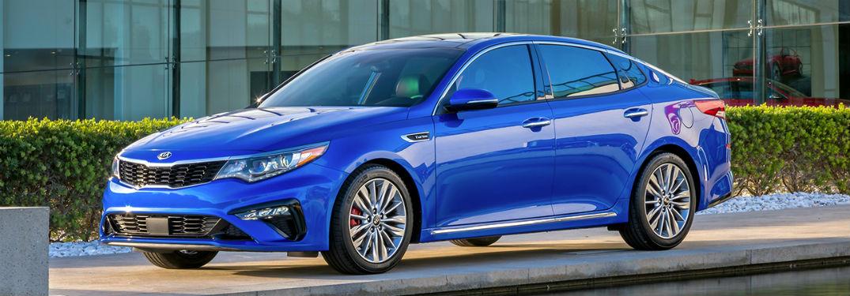 2019 Kia Optima in dark blue
