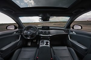 interior of the 2020 Stinger GTS