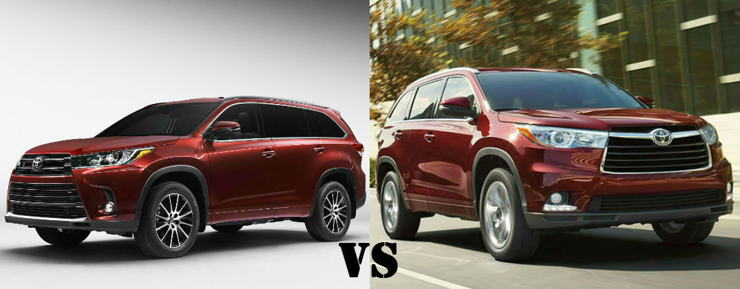 2017 toyota highlander vs 2016 toyota highlander. Black Bedroom Furniture Sets. Home Design Ideas