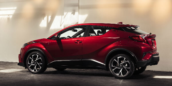 Red 2018 Toyota C-HR Side Profile