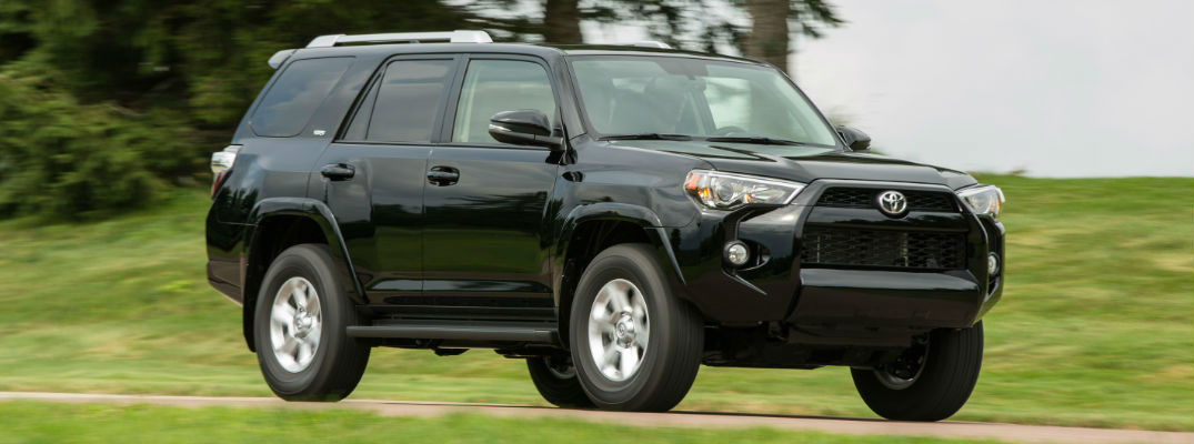 Black 2017 Toyota 4Runner SR5 Front End Exterior