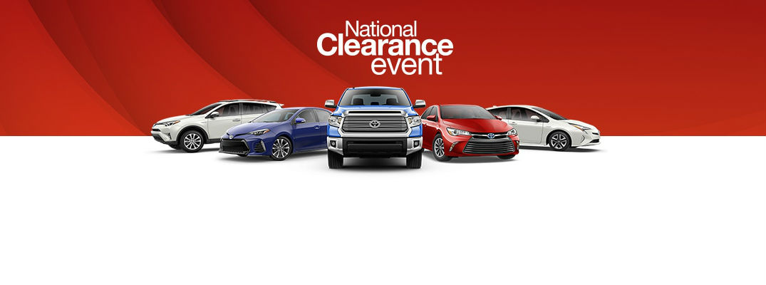 Image result for toyota national clearance event