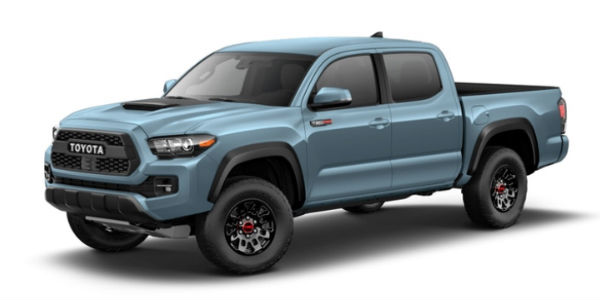 Cavalry Blue 2018 Toyota Tacoma TRD Pro Exterior on White Background