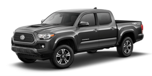 Magnetic Gray Metallic 2018 Toyota Tacoma Exterior on White Background